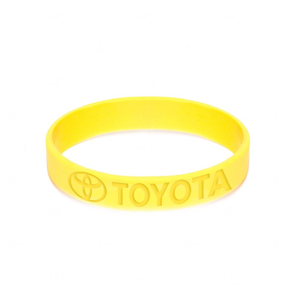 Pulseira Silicone Colorblock Personalizada Amarelo