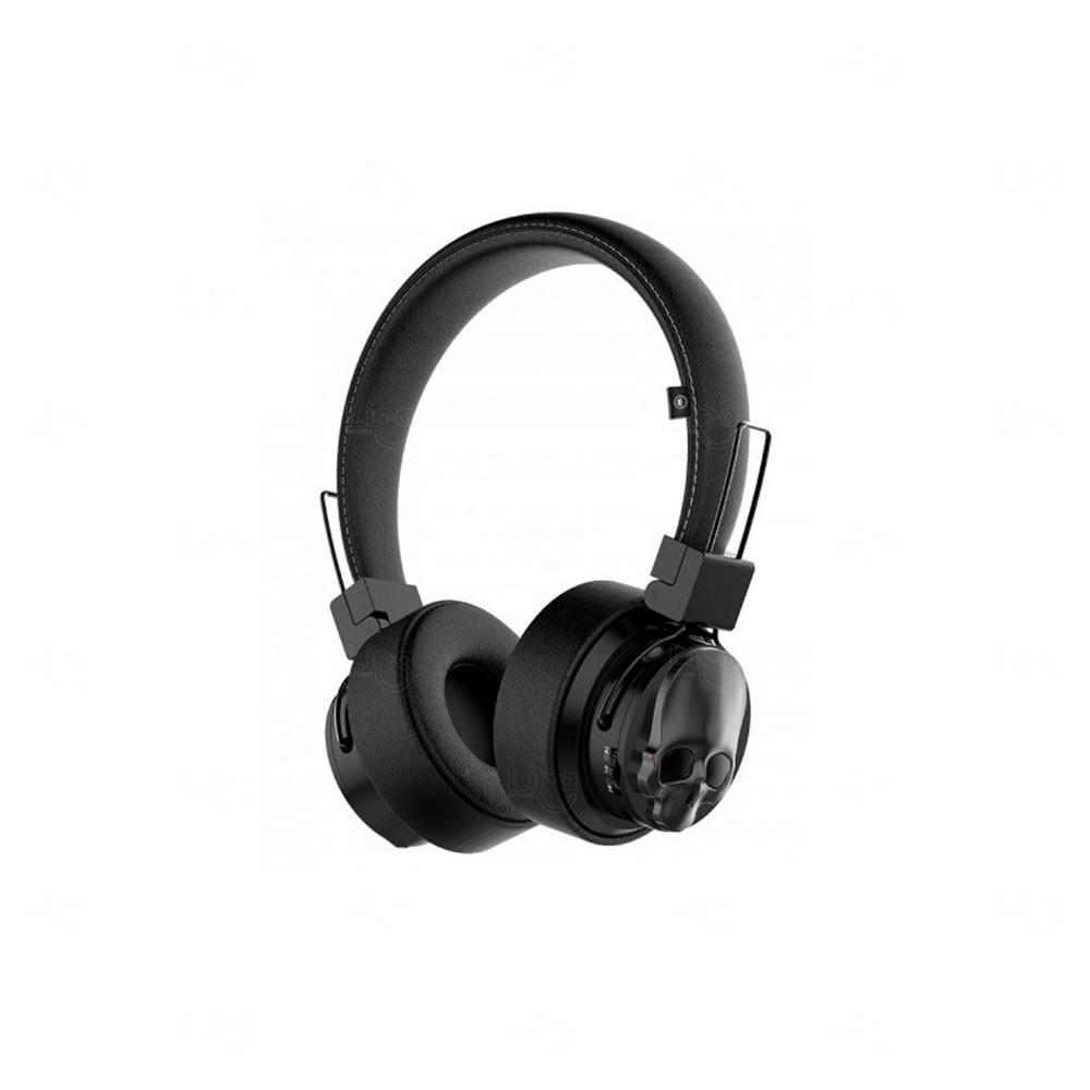 Fone De Ouvido Personalizado Caveira - Bluetooth Preto