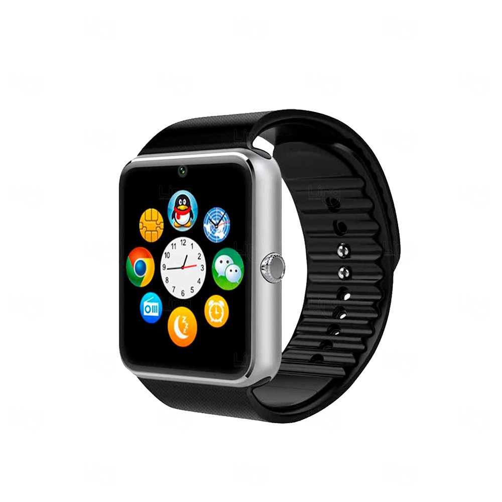 Relógio Smartwatch Touch Personalizado Preto