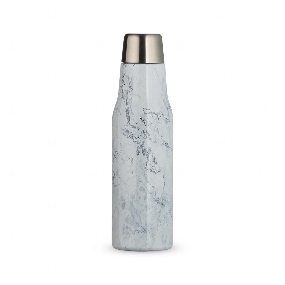Garrafa Térmica Mármore Personalizado - 550 ml Branco