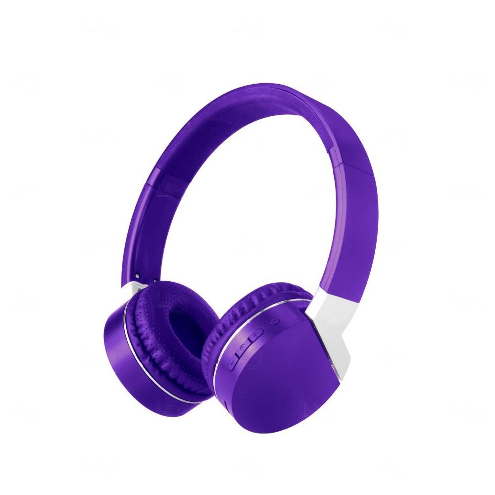 Fone de Ouvido Wireless Personalidade Roxo