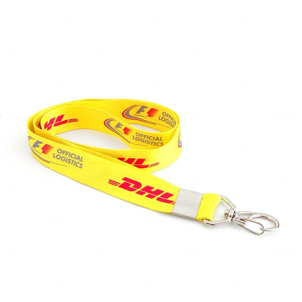 Cordão De Crachá Personalizado com Presilha Mosquetinho 1,2 cm Amarelo