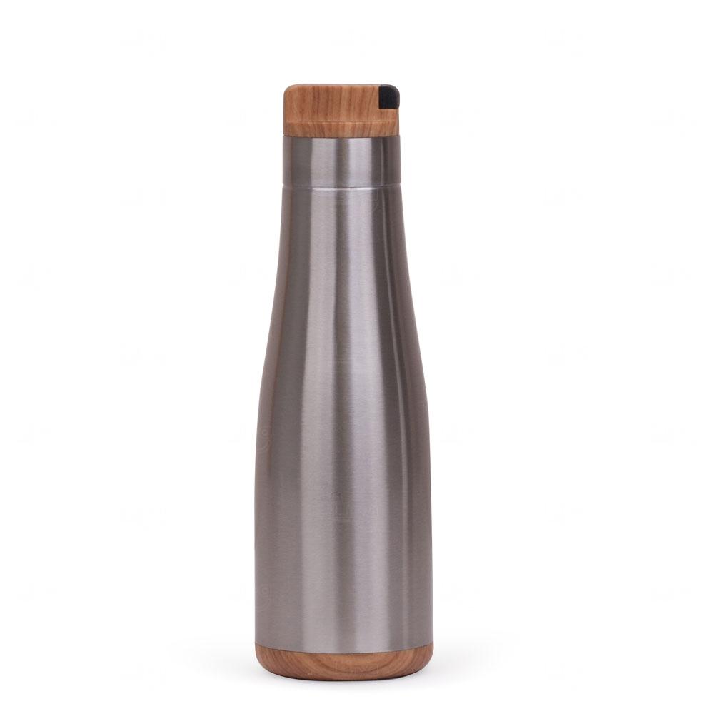 Garrafa Personalizada Inox Madeira - 750 ml Prata
