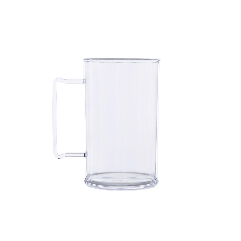 Caneca Personalizada Acrílica Transparente Color - 500 ml Transparente