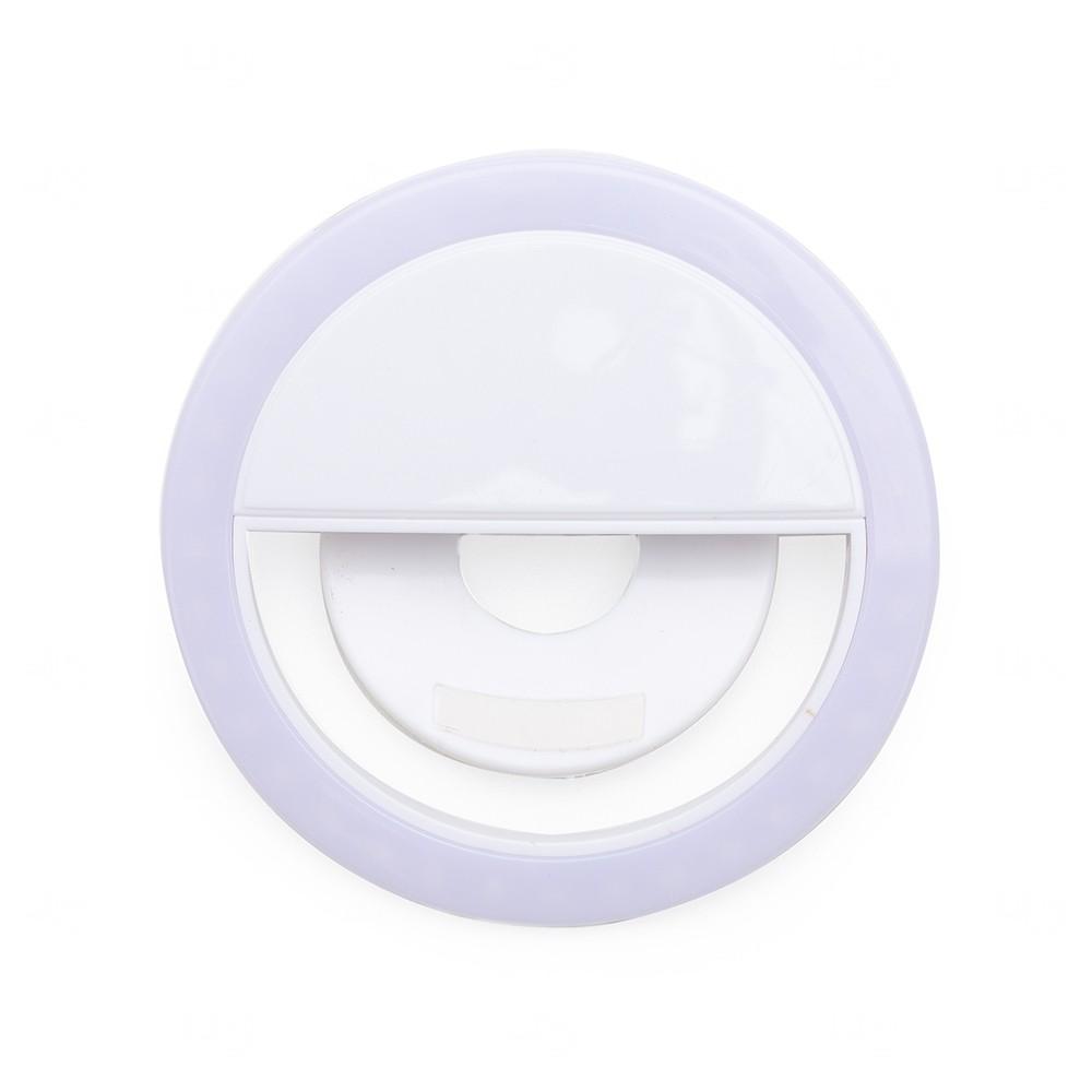 Anel de Iluminação Personalizado Selfie Ring - Recarregável Branco