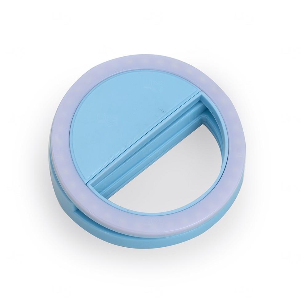 Anel de Iluminação Personalizado Selfie Ring Azul