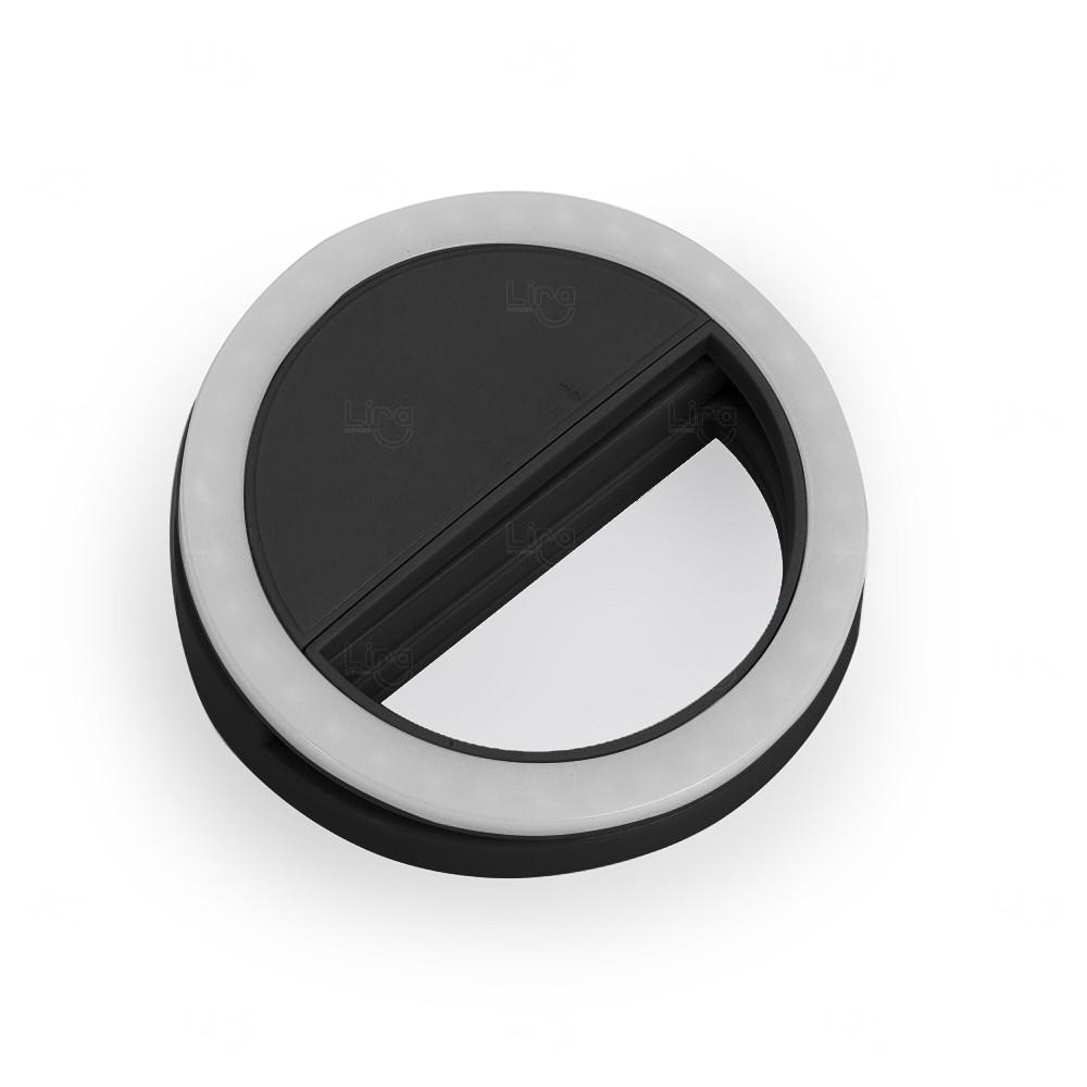 Anel de Iluminação Personalizado Selfie Ring Preto
