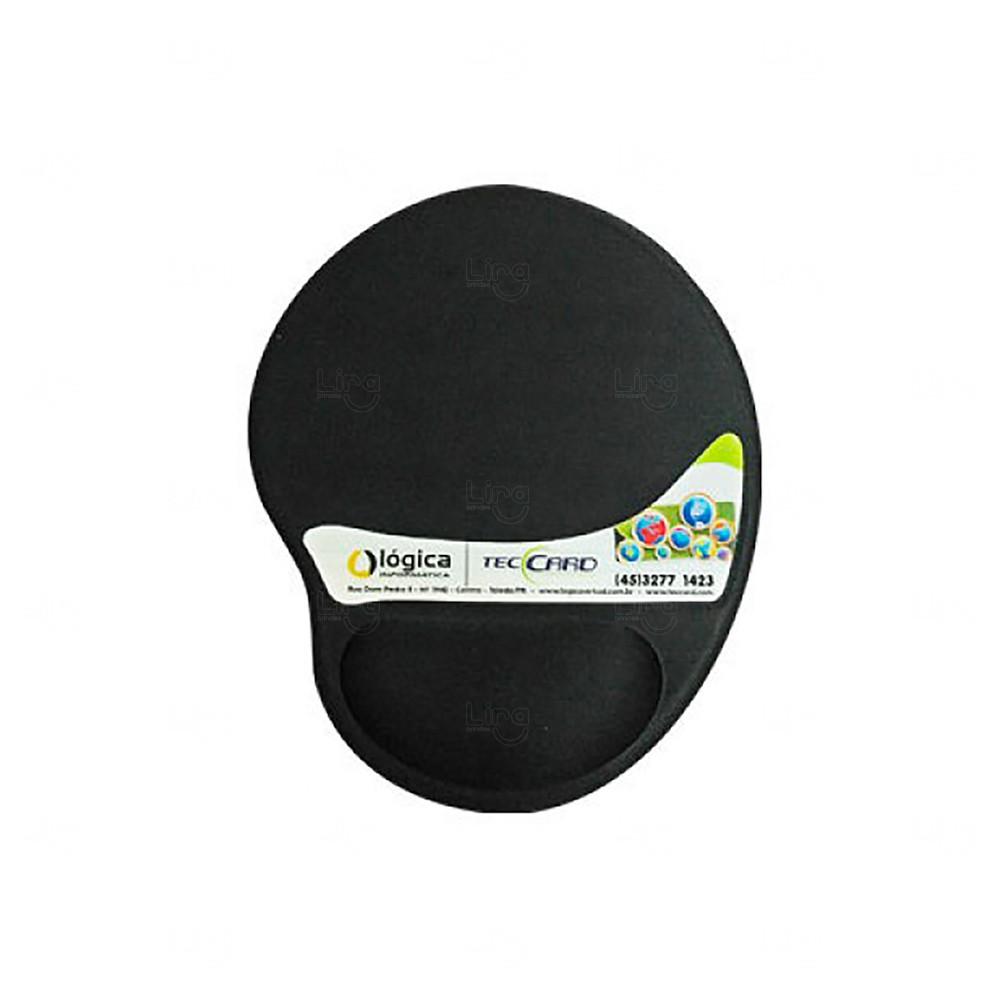 Mouse Pad Personalizado Ergonômico Preto