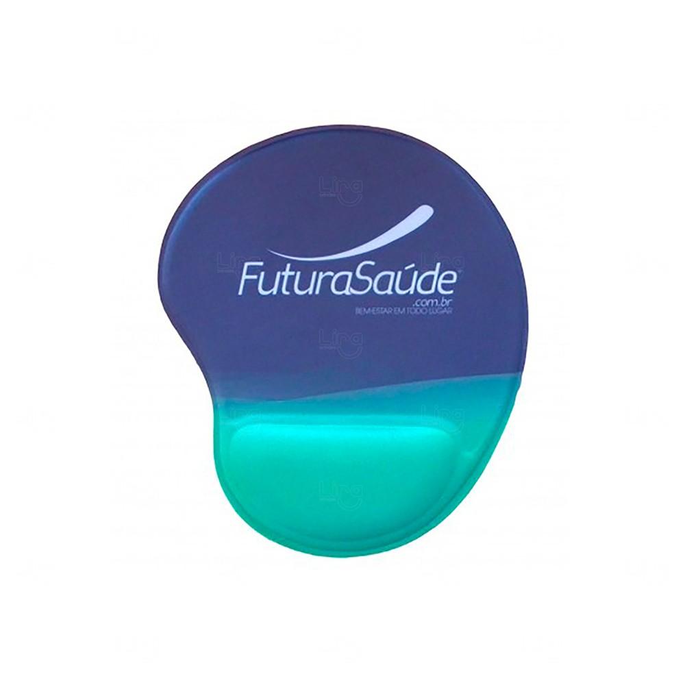 Mouse Pad Personalizado Ergonômico Azul Claro
