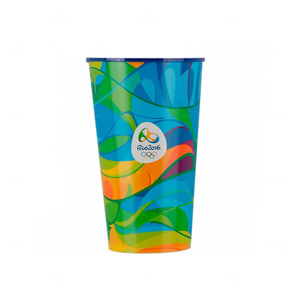 Copo Personalizado Personalização Total In Mold Label - 550 ml Azul Claro