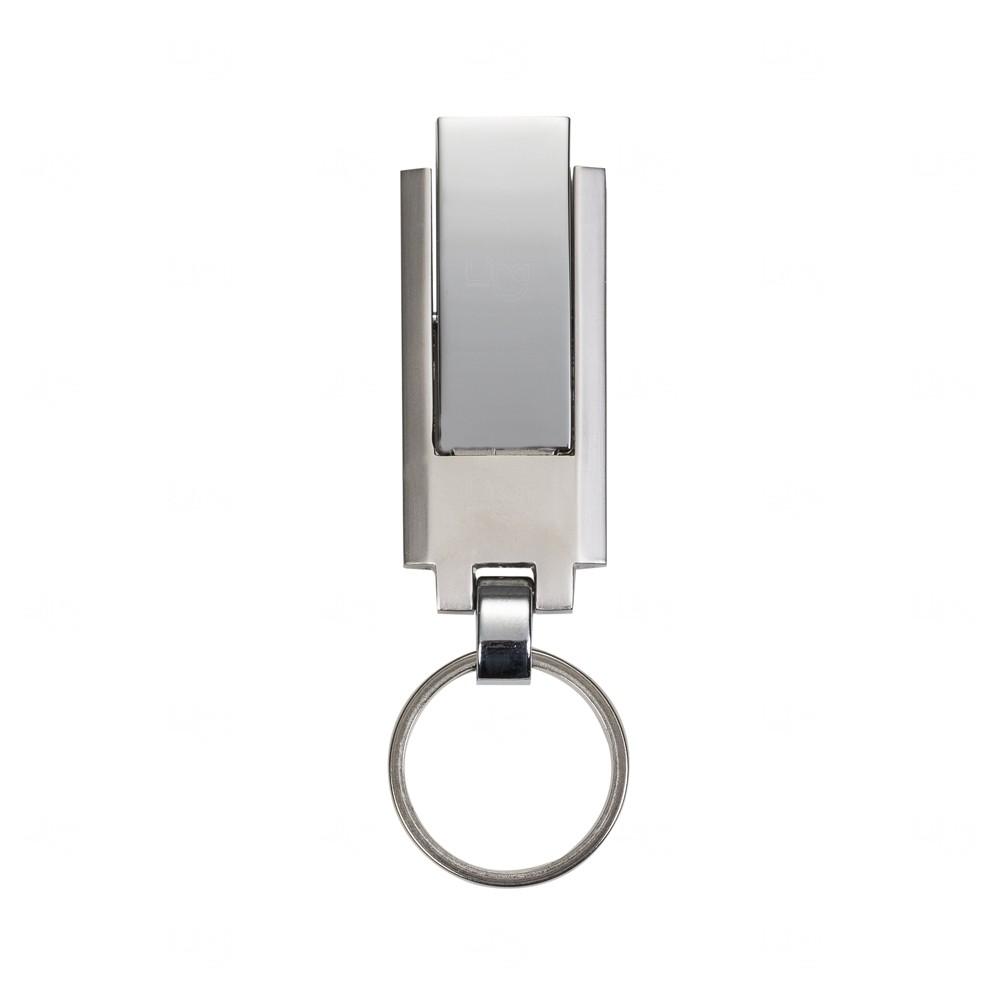 Chaveiro Pendrive Personalizado de Metal - 4 GB