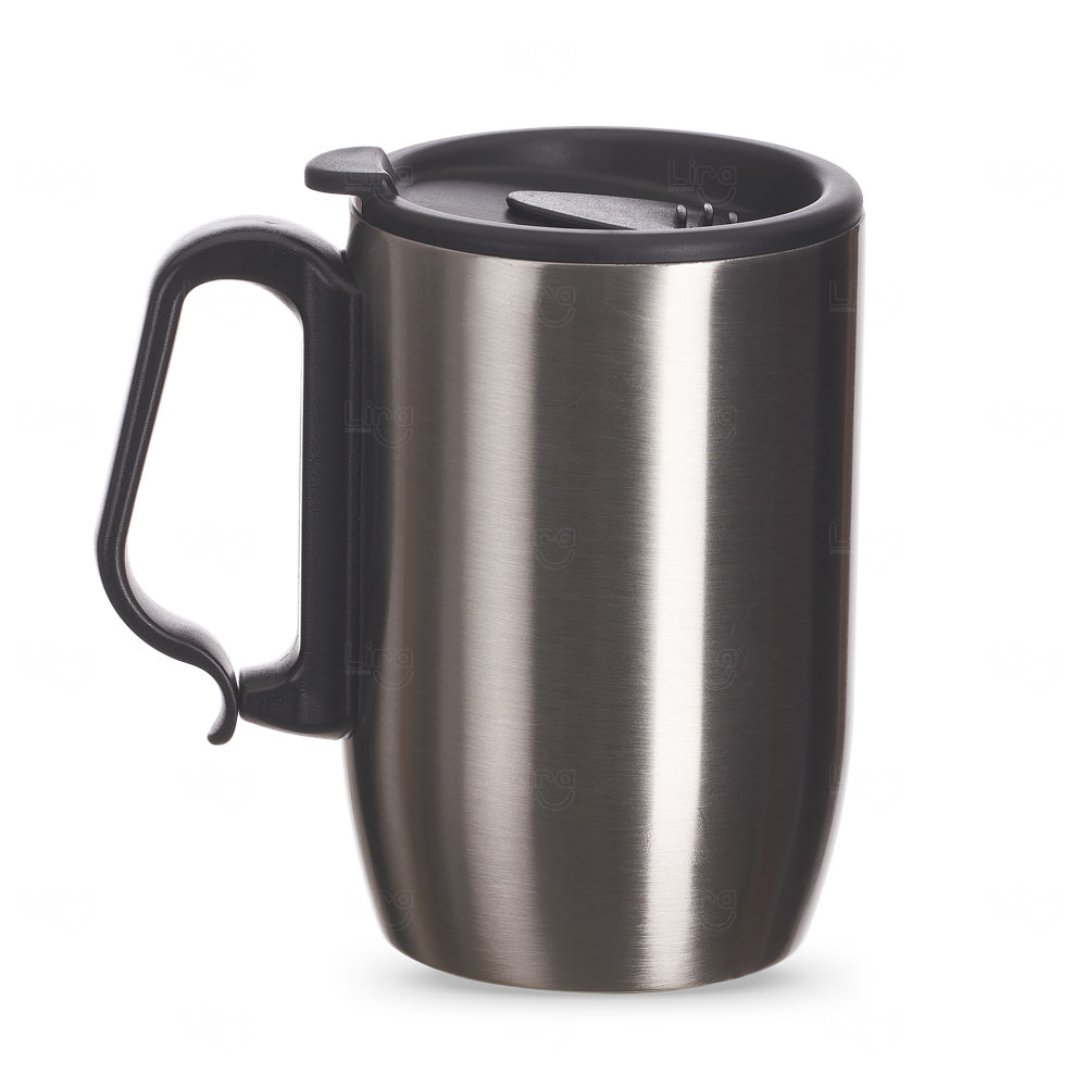Caneca Inox Conserva Temperatura Personalizada - 350 ml Inox