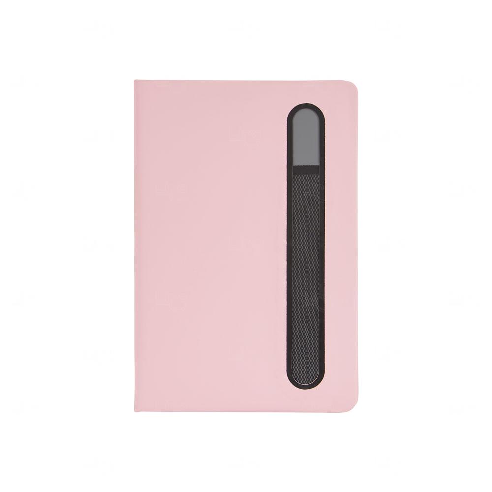 Caderno de Anotações Personalizado Rosa Claro