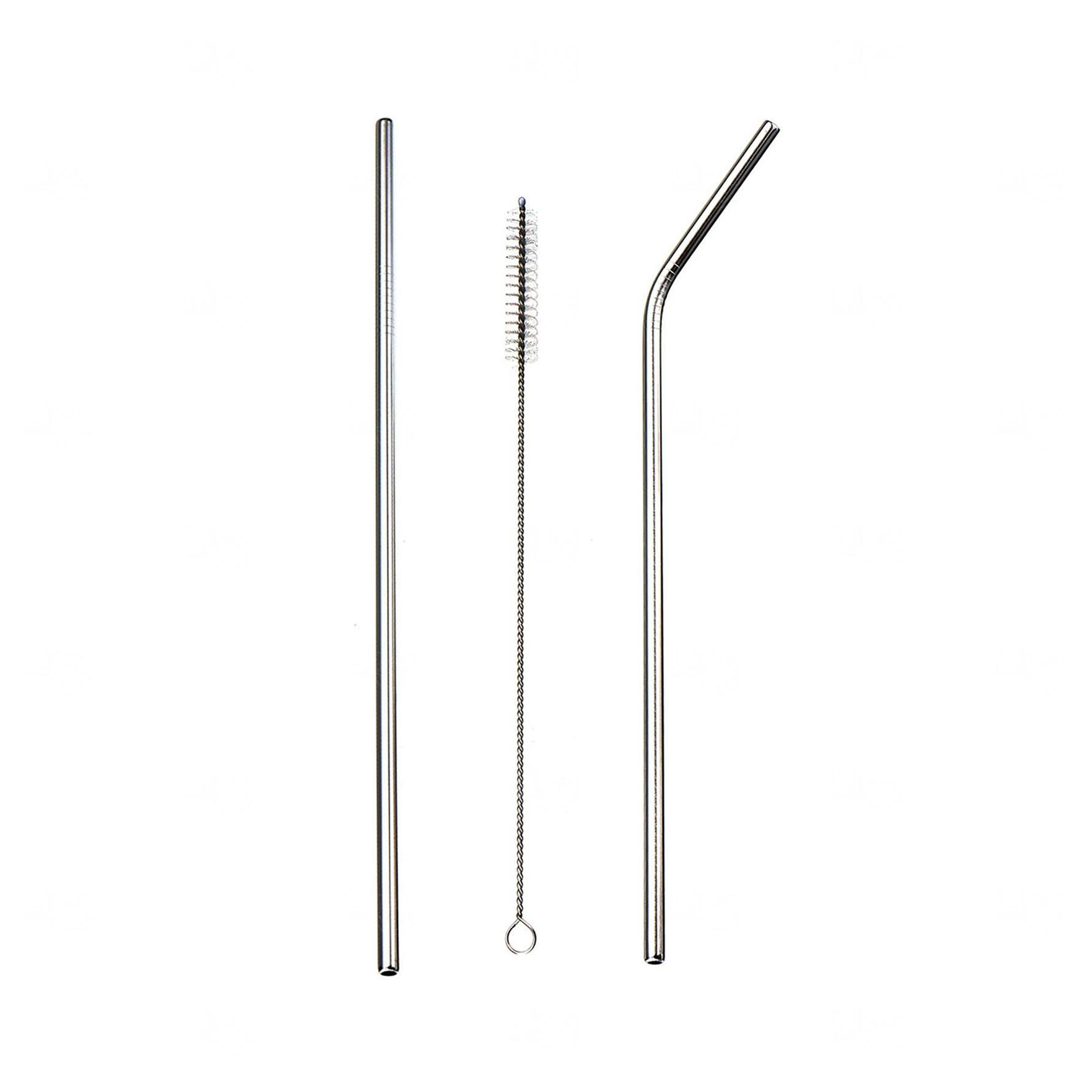 Kit Canudo de Metal Personalizado Inox