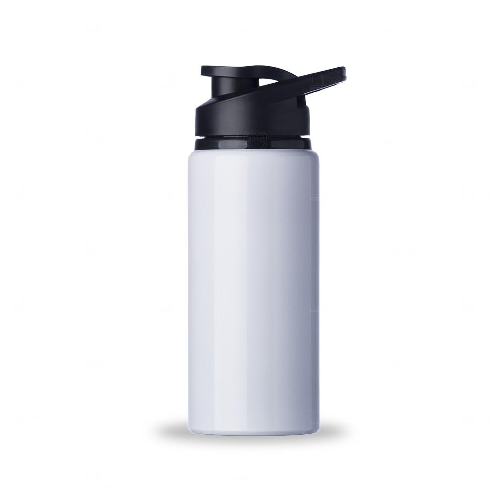Squeeze Alumínio Brilhante Personalizada - 600 ml Branco