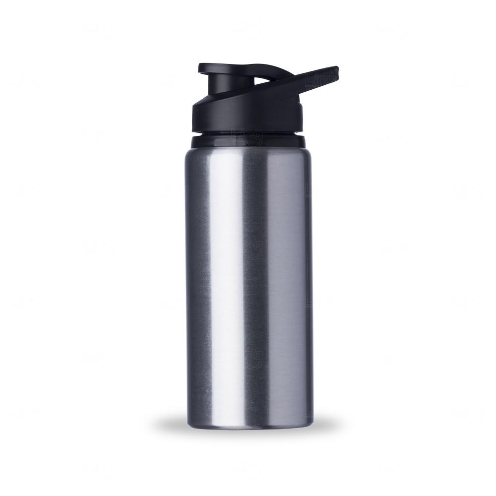 Squeeze Alumínio Brilhante Personalizada - 600 ml Inox