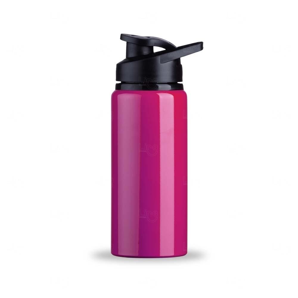 Squeeze Alumínio Brilhante Personalizada - 600 ml Rosa Pink