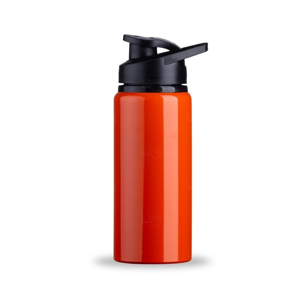 Squeeze Alumínio Brilhante Personalizada - 600 ml Laranja