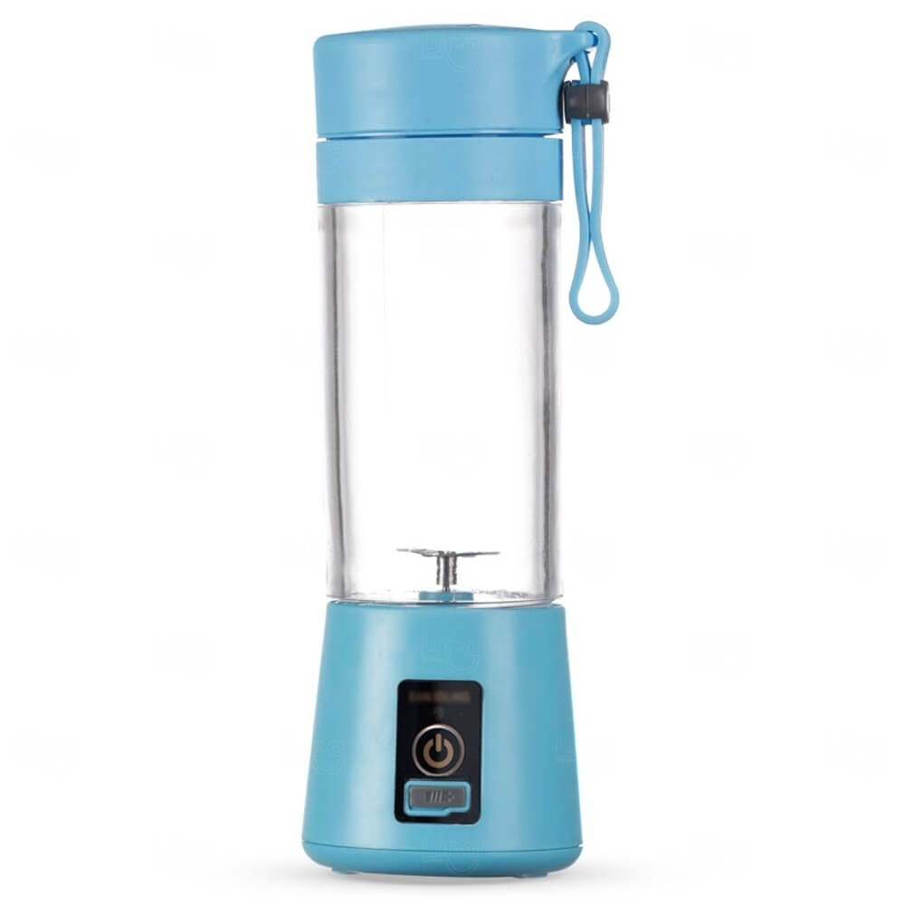 Mini Liquidificador Smart Personalizado - 380 ml Azul Claro