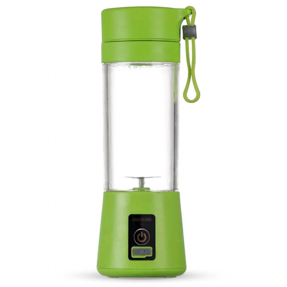 Mini Liquidificador Smart Personalizado - 380 ml Verde Claro