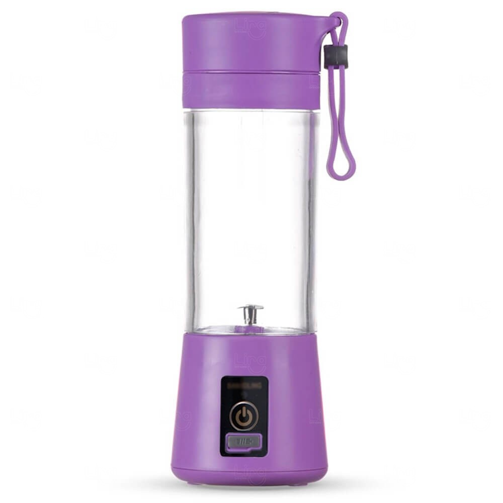 Mini Liquidificador Smart Personalizado - 380 ml Roxo
