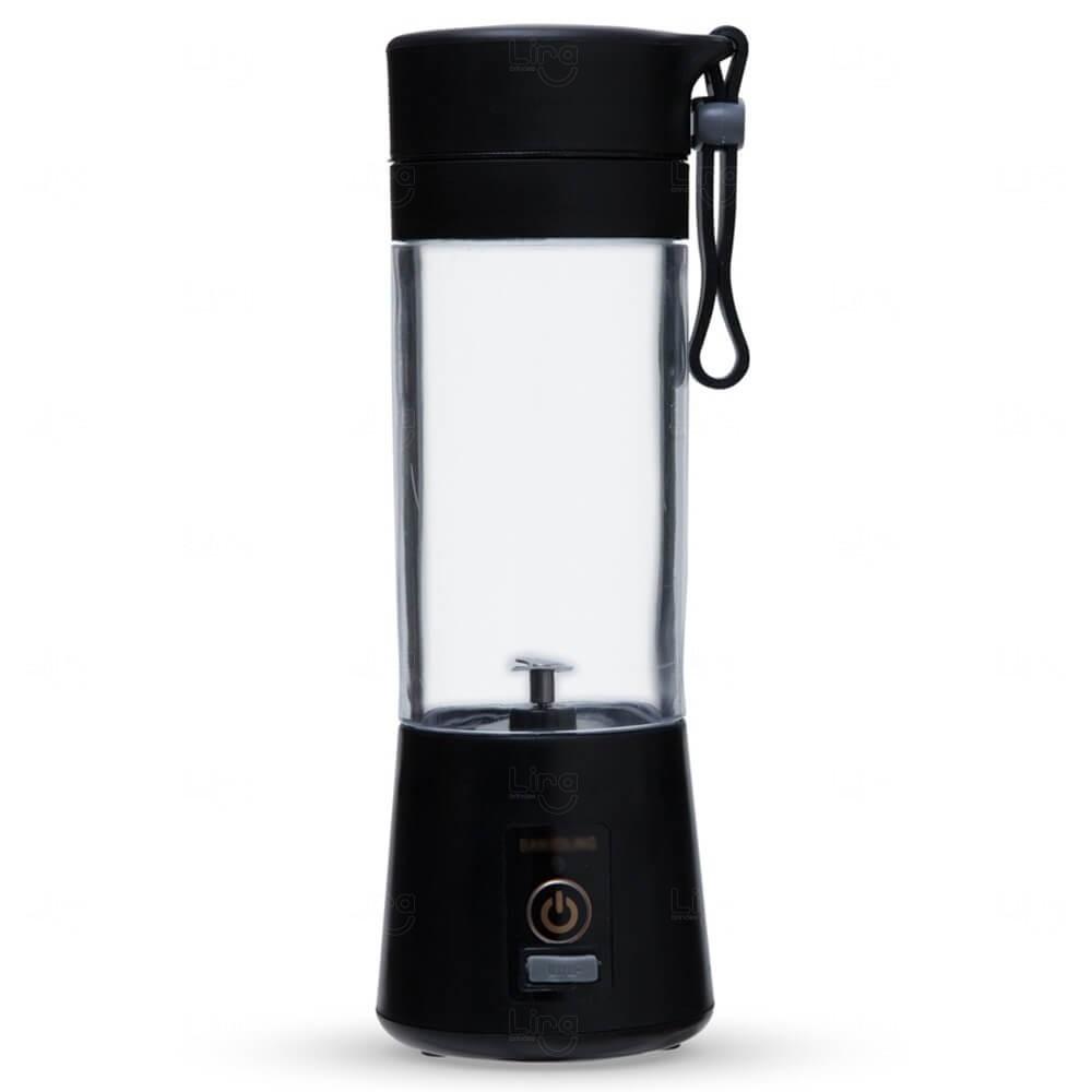 Mini Liquidificador Smart Personalizado - 380 ml Preto