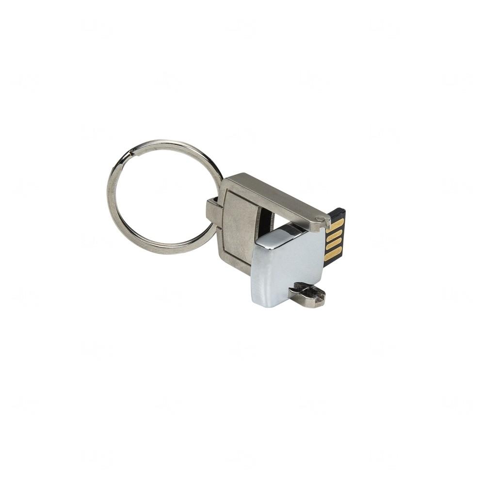 Mini Chaveiro Pen Drive Metal Personalizado - 8 GB
