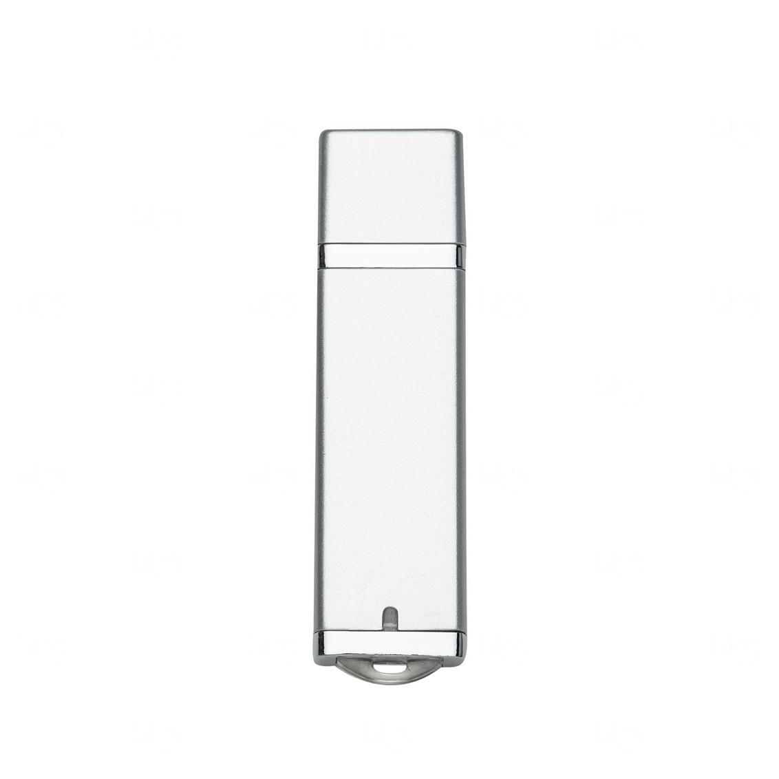 Pen Drive Com Tampa Personalizado - 16 GB Prata