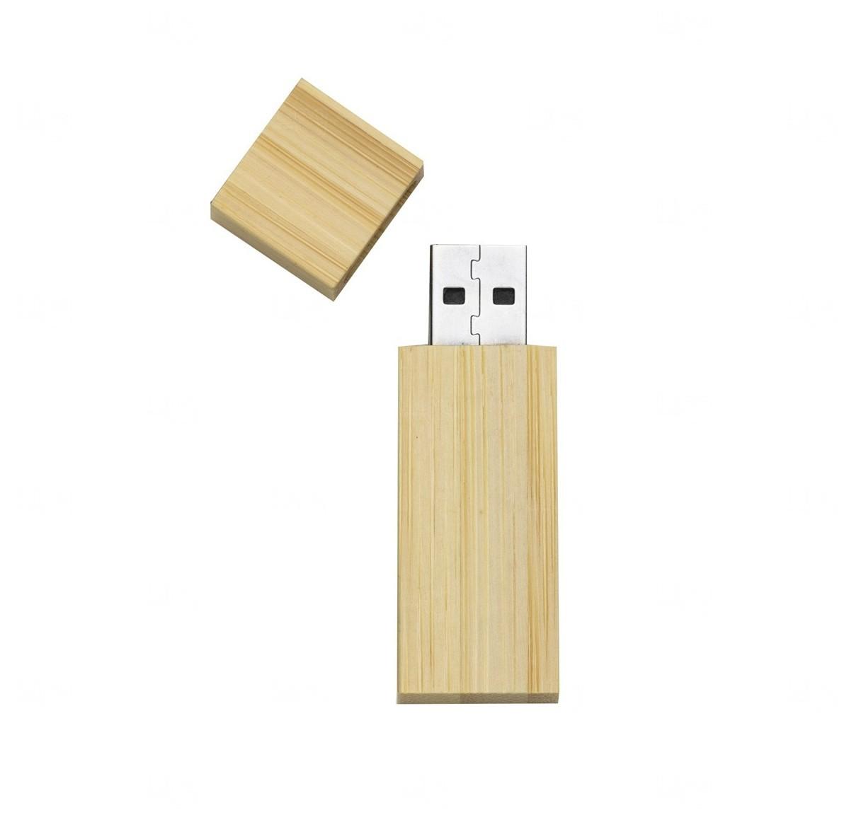 Pen Drive De Bambu Personalizado - 8 GB Bambu