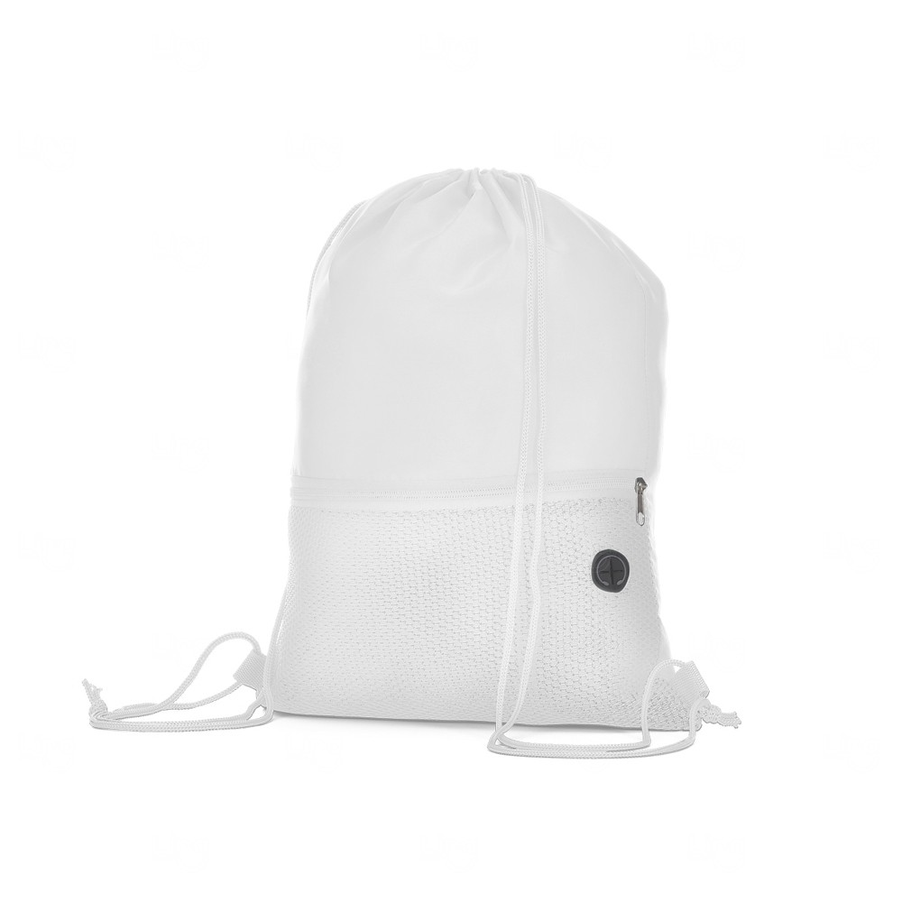 Sacochila em Poliéster Personalizada Branco