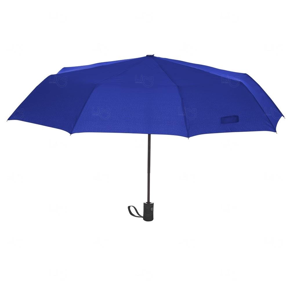 Guarda Chuva Automático Colorido Personalizado Azul