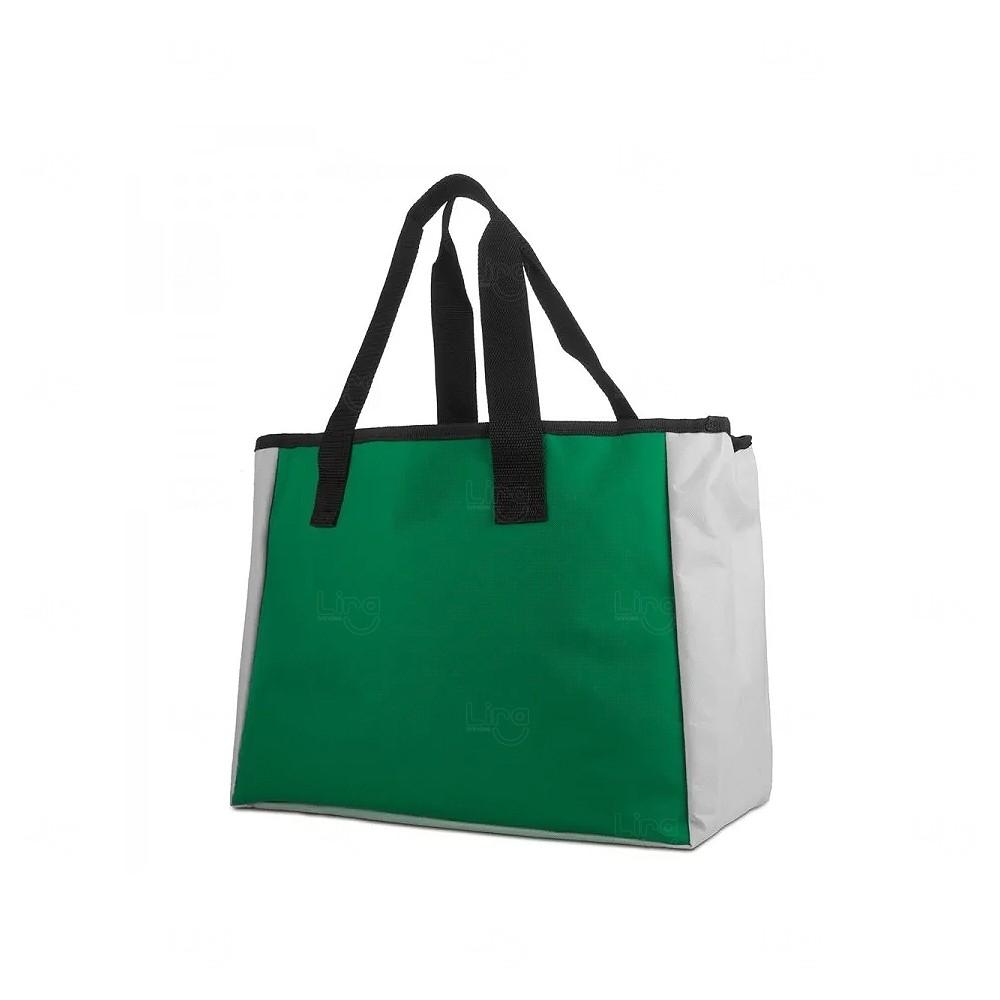 Sacola Térmica De Poliéster Personalizada Verde
