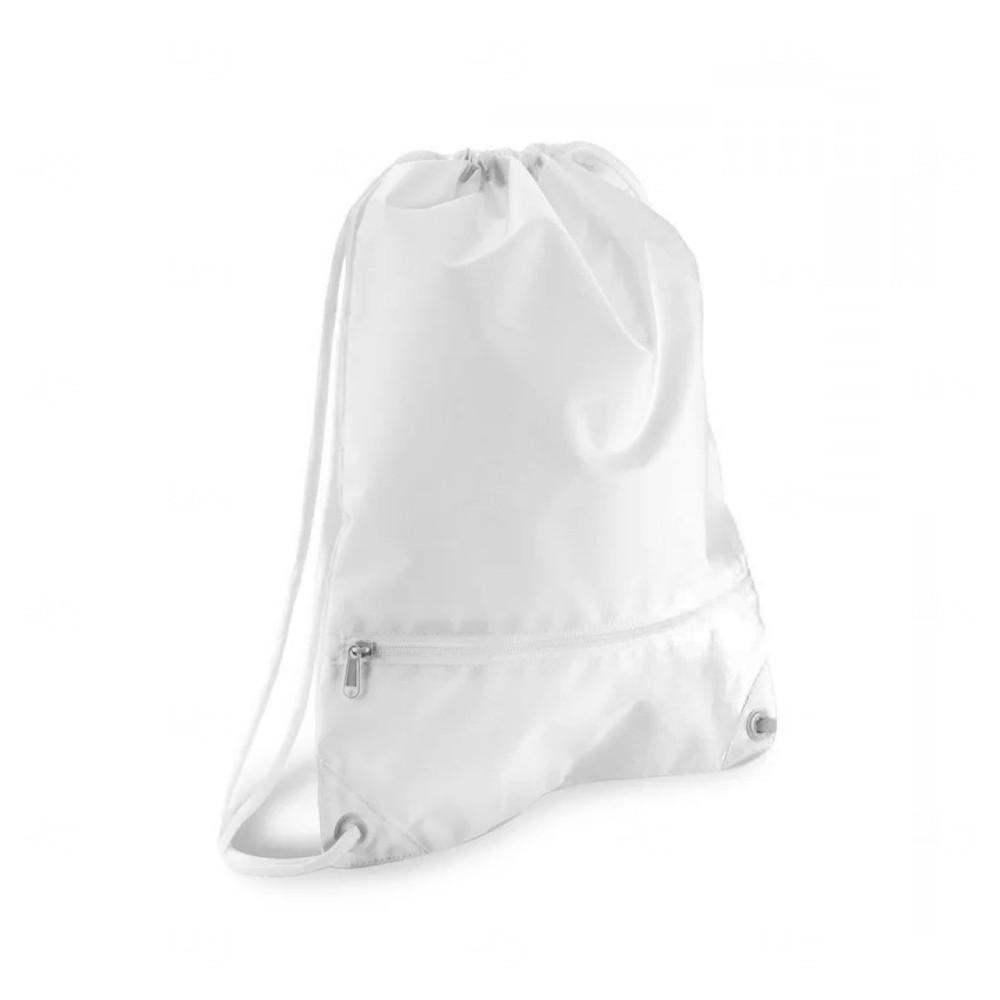 Sacochila Poliéster Com Bolso Personalizado Branco