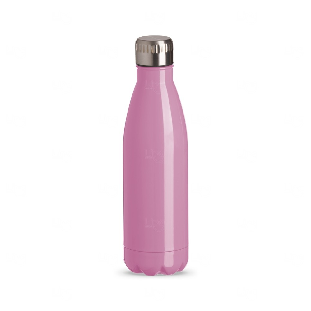 Squeeze Inox Color Personalizada - 750 ml Rosa Claro