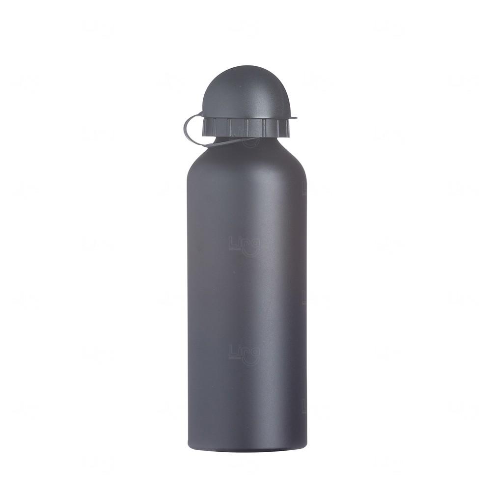 Squeeze Alumínio Fosco Personalizado - 500ML Preto