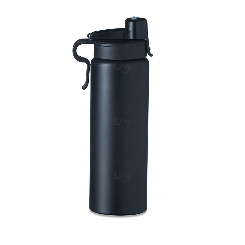 Squeeze Alumínio Personalizada - 800 ml Preto