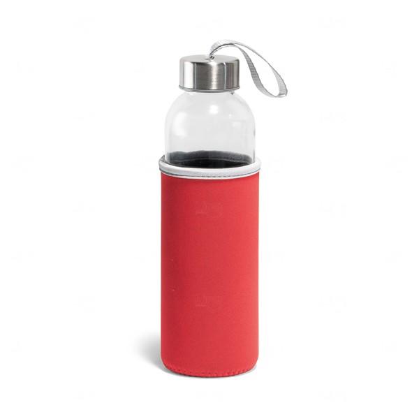 Squeeze De Vidro Personalizado - 520 ml Vermelho