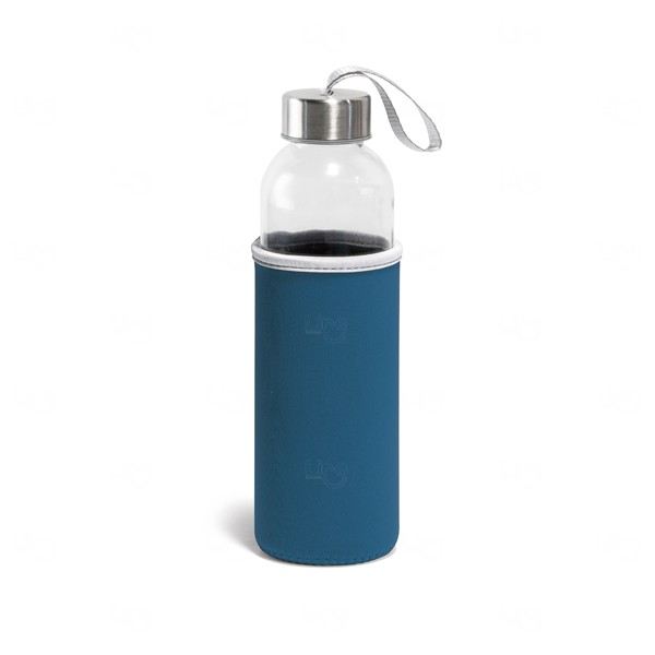 Squeeze De Vidro Personalizado - 520 ml Azul