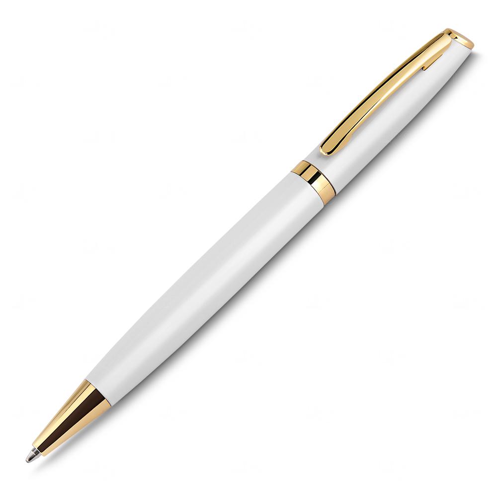 Caneta Dourada Personalizada Branco