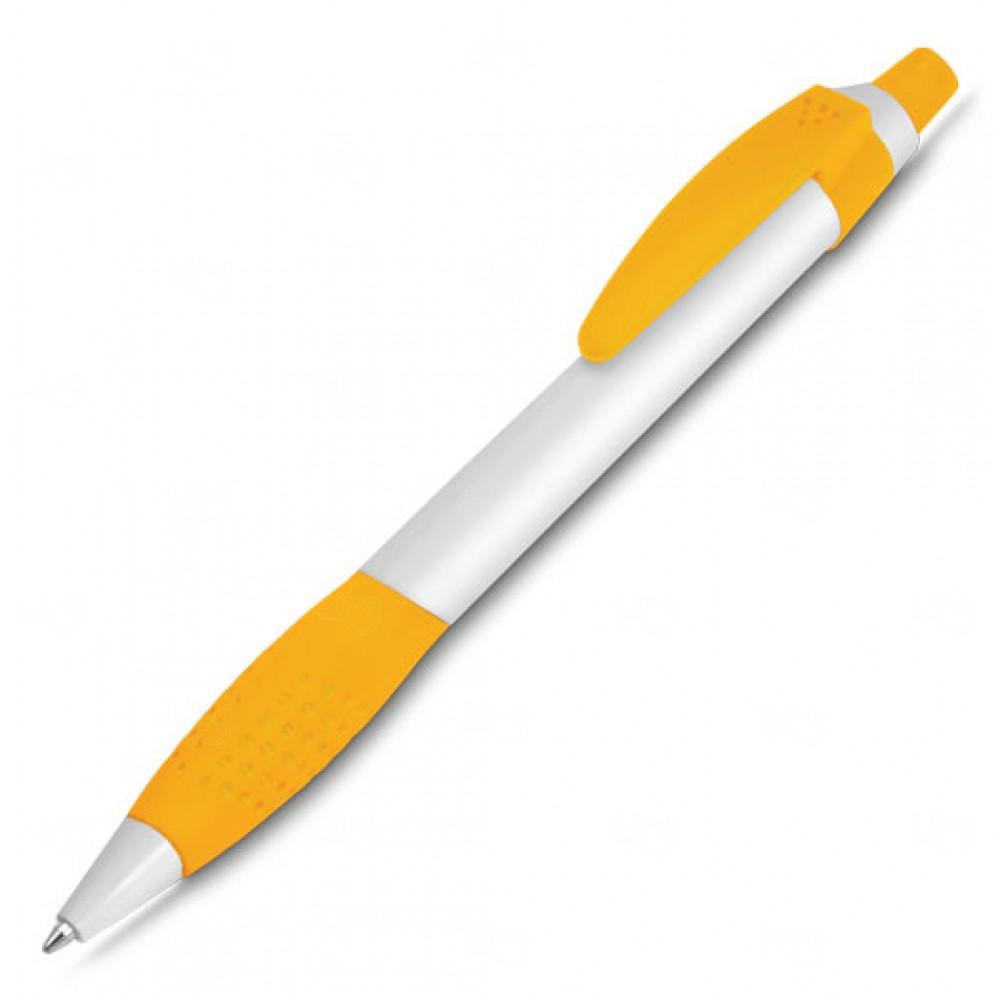 Caneta Plástica Personalizada Amarelo