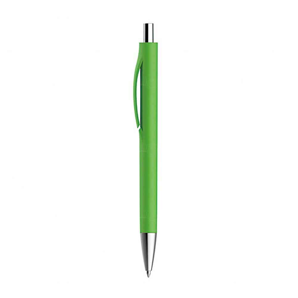 Caneta Plástica Personalizada Verde