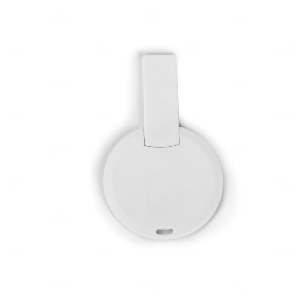 Pen Card Redondo Personalizado - 8 GB Branco