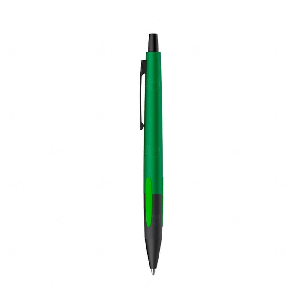 Caneta Metal Esferográfica Personalizada Verde
