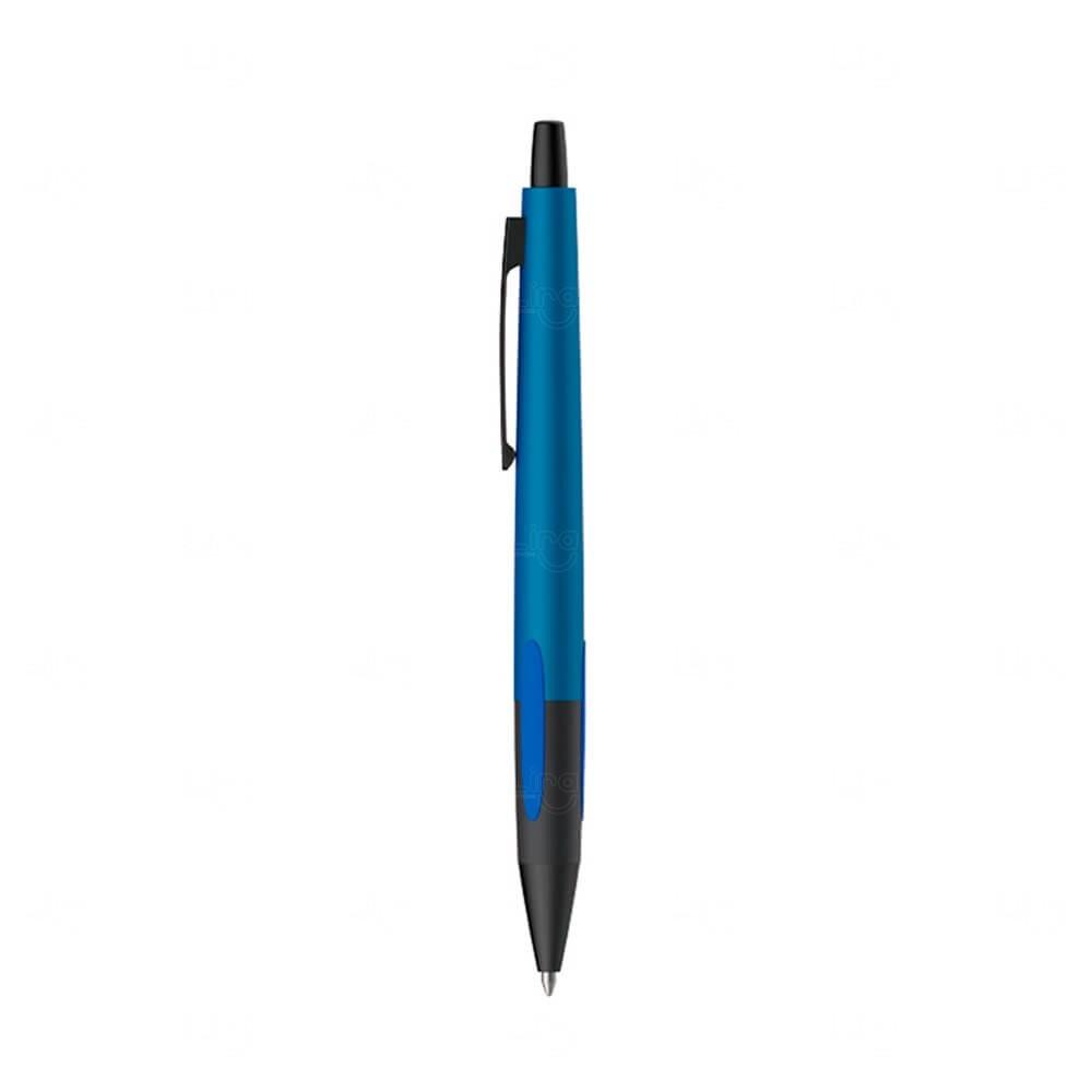 Caneta Metal Esferográfica Personalizada Azul