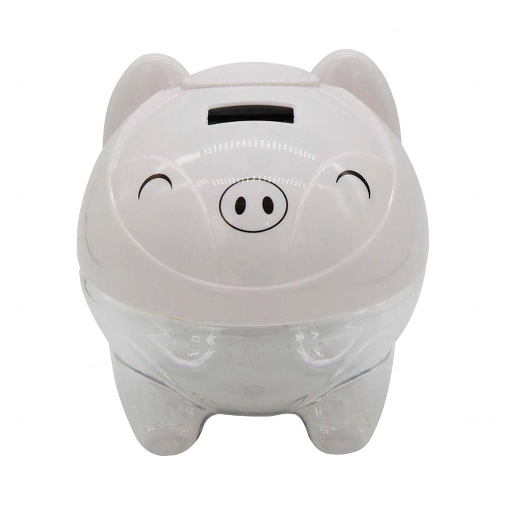Cofre Digital Porquinho Personalizado Branco