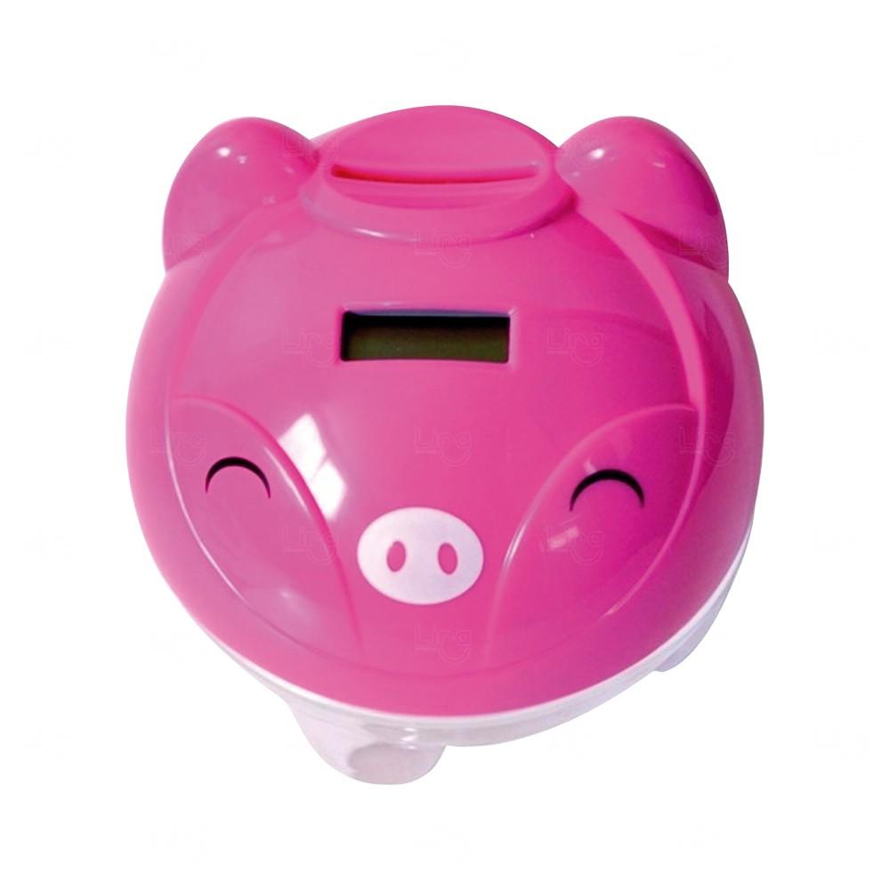 Cofre Digital Porquinho Personalizado Rosa