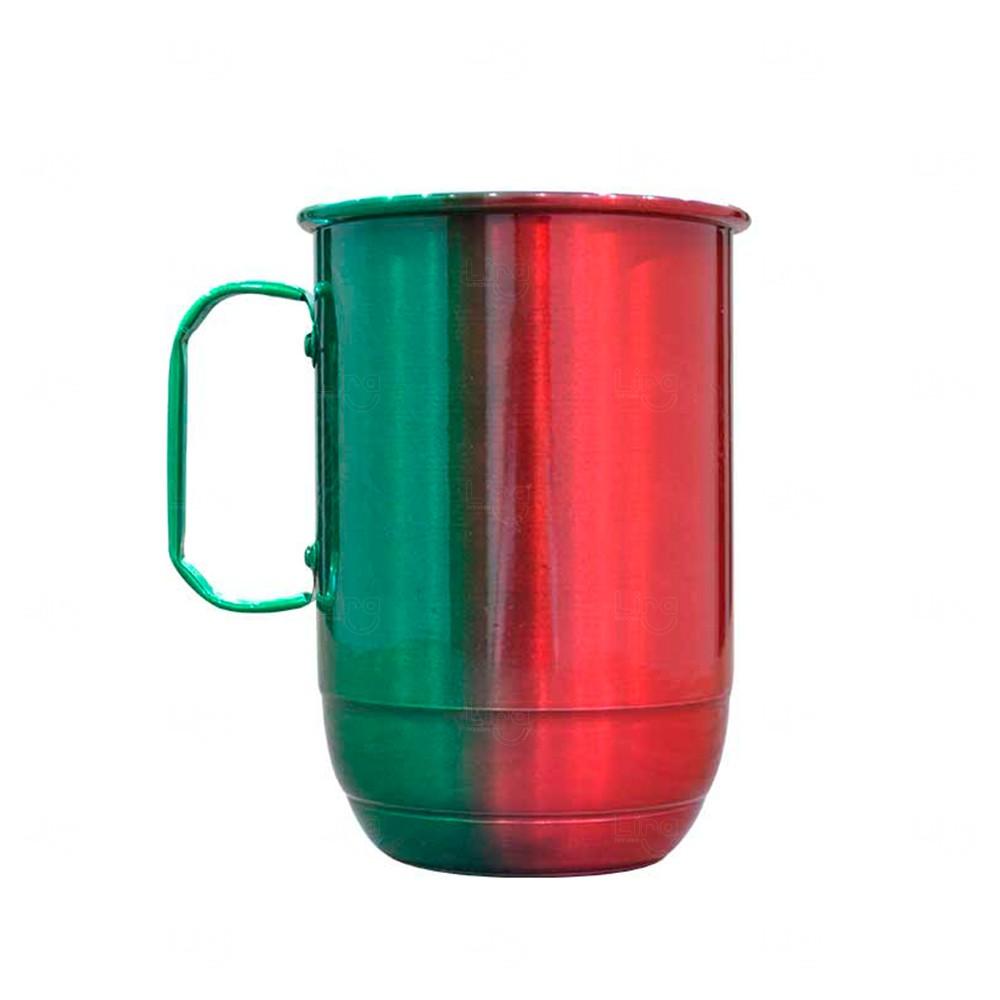 Caneca Alumínio Multicolor Personalizada - 850 ml Verde