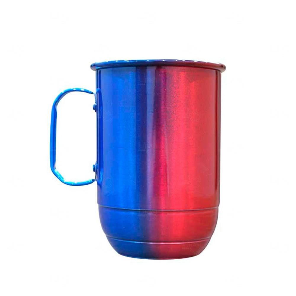 Caneca Alumínio Multicolor Personalizada - 850 ml Azul