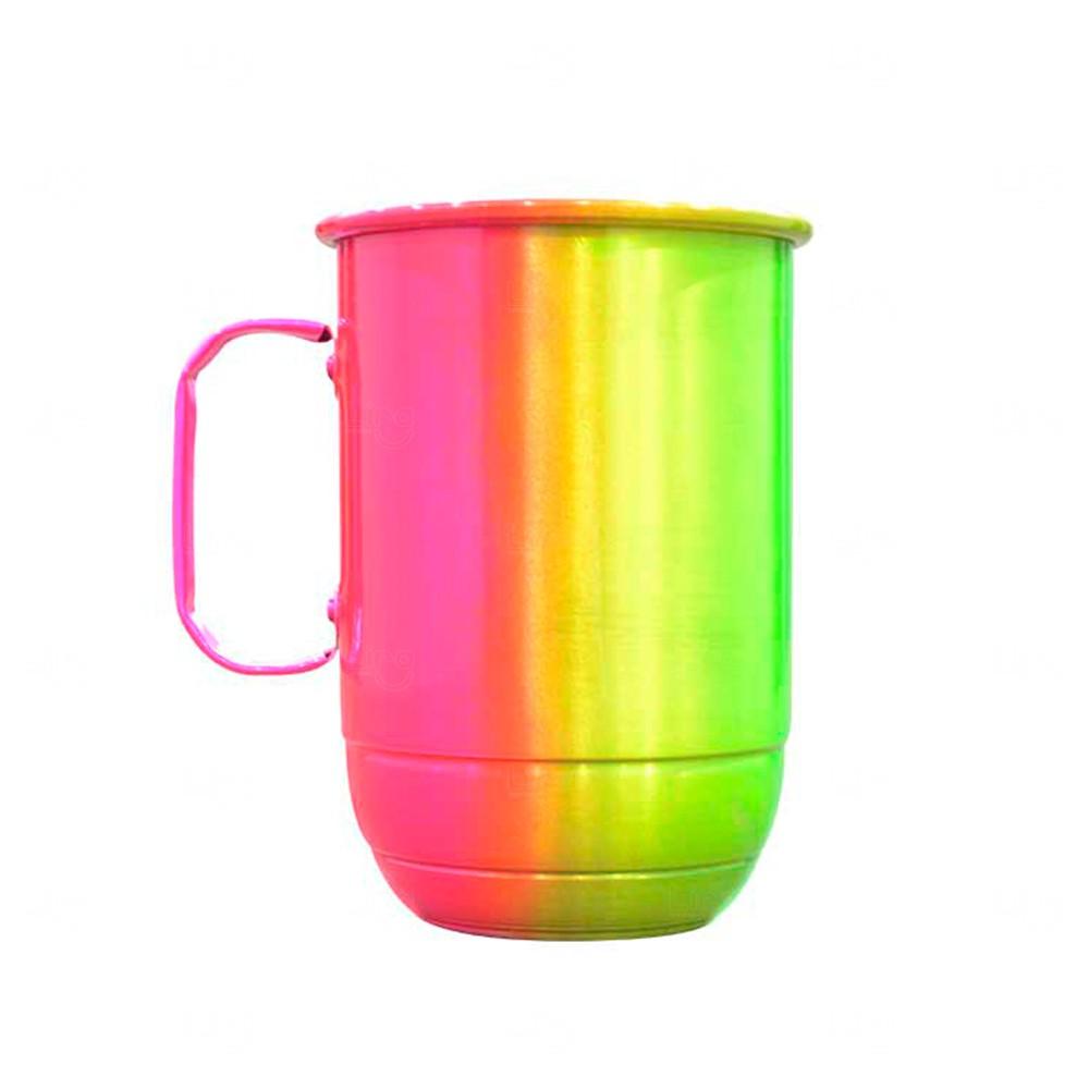 Caneca Alumínio Multicolor Personalizada - 850 ml Rosa