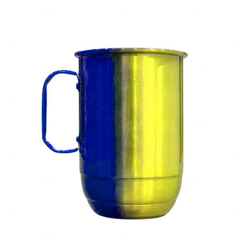 Caneca Alumínio Multicolor Personalizada - 850 ml Amarelo